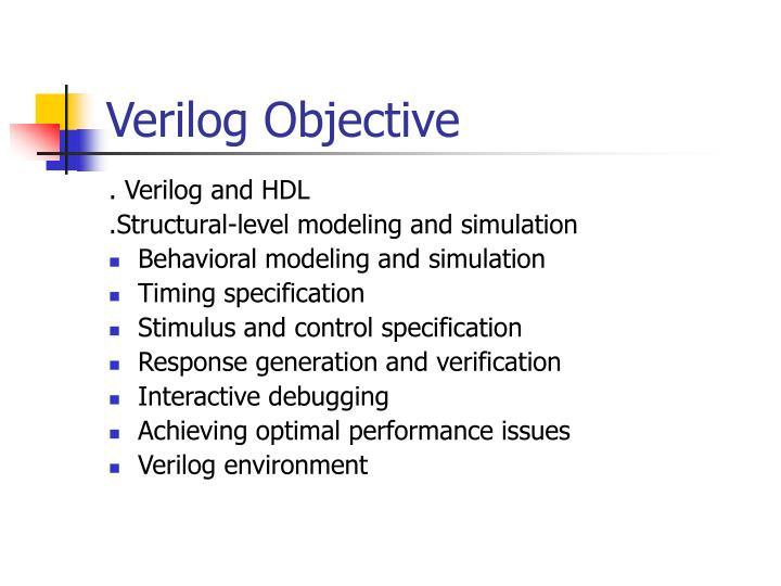Verilog Objective
