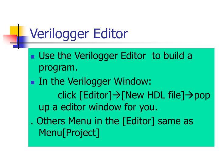 Verilogger Editor