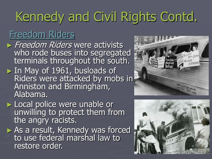 Kennedy and Civil Rights Contd.