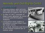 kennedy and civil rights contd