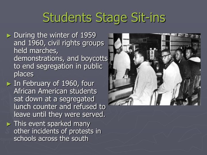 Students stage sit ins