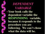 dependent variable3