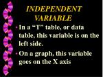 independent variable1