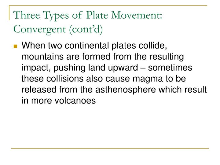 Three Types of Plate Movement: