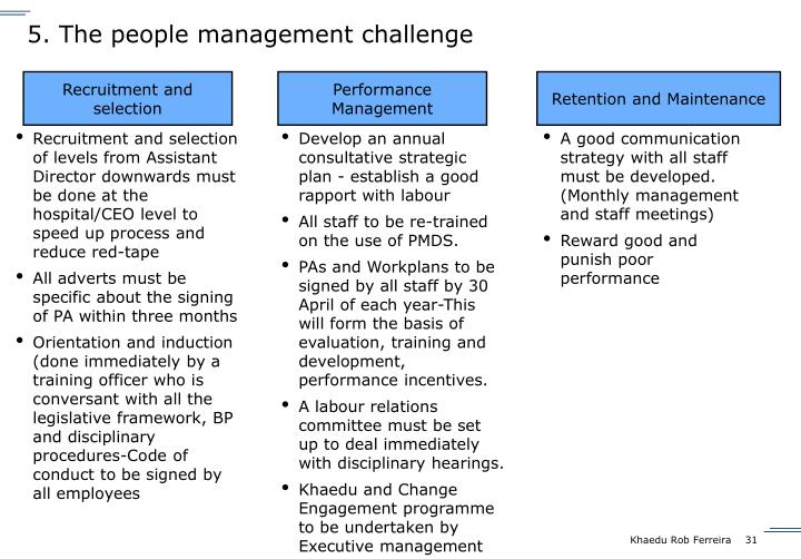 5. The people management challenge