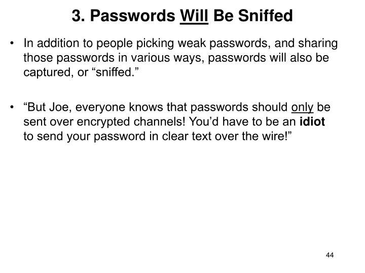 3. Passwords