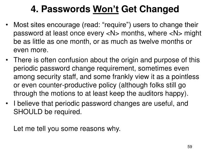 4. Passwords