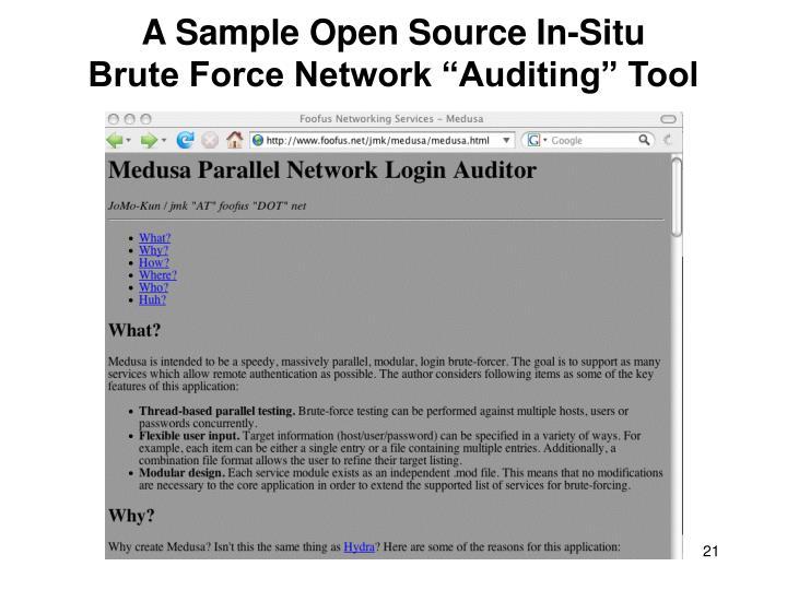 A Sample Open Source In-Situ