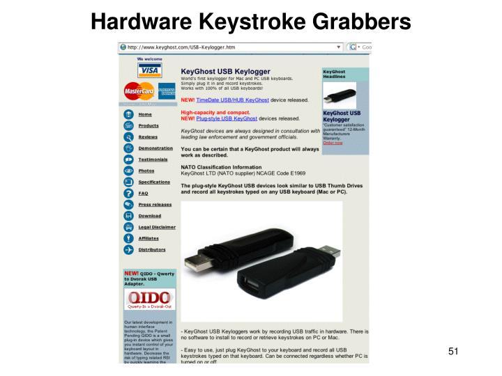 Hardware Keystroke Grabbers