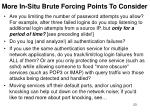 more in situ brute forcing points to consider