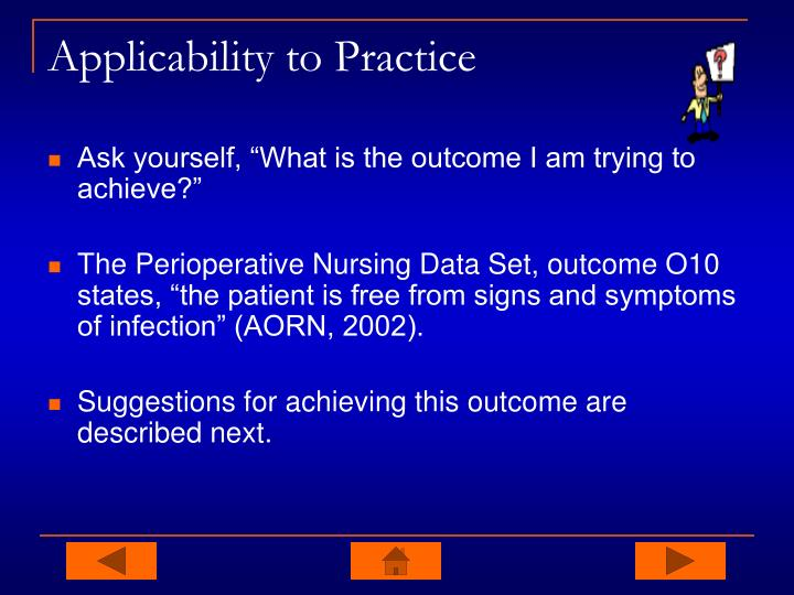 Applicability to Practice