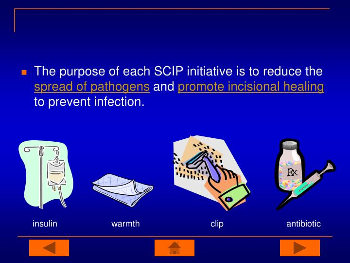 The purpose of each SCIP initiative is to reduce the