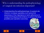 why is understanding the pathophysiology of surgical site infection important