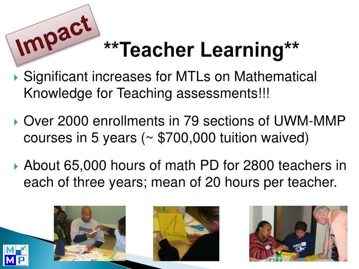 **Teacher Learning**