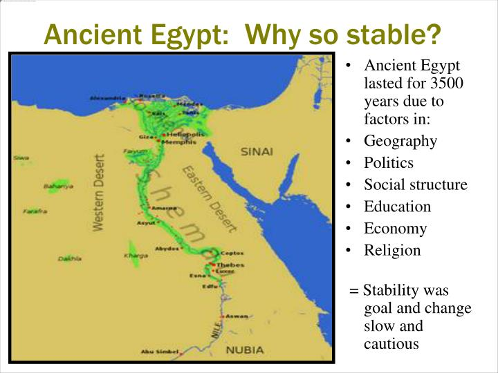 Ancient Egypt:  Why so stable?