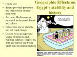 geographic effects on egypt s stability and history