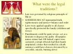 what were the legal traditions