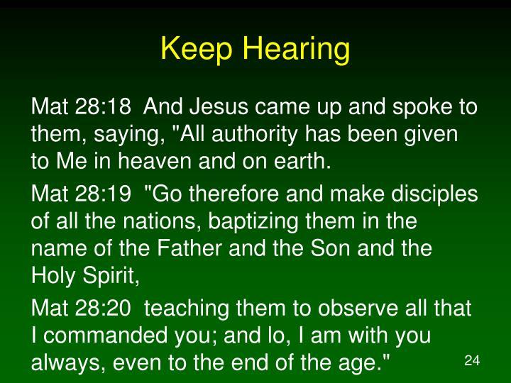 Keep Hearing