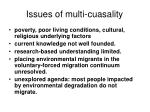issues of multi cuasality