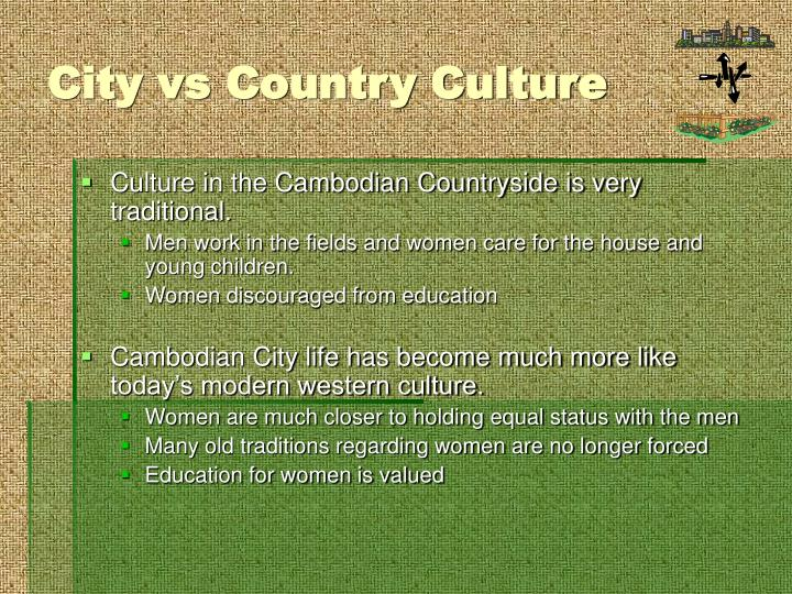City vs Country Culture