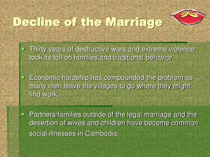 Decline of the Marriage