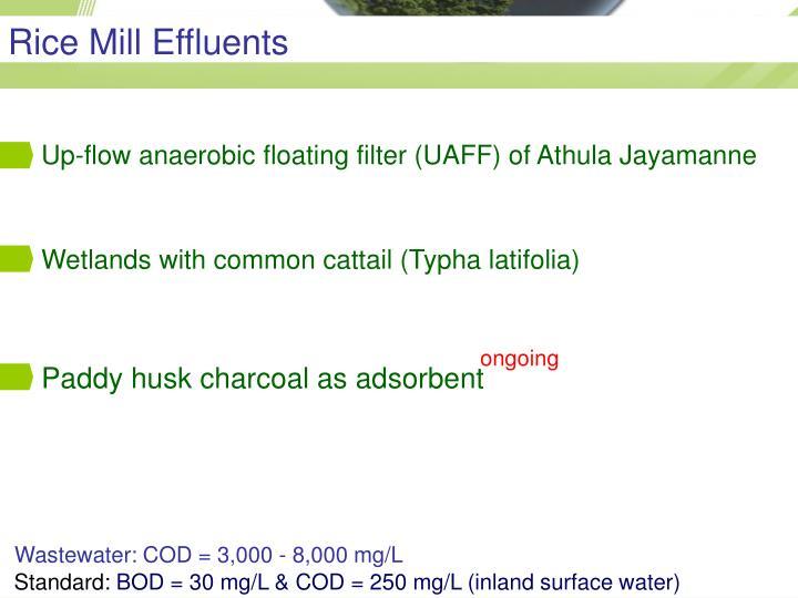 Rice Mill Effluents