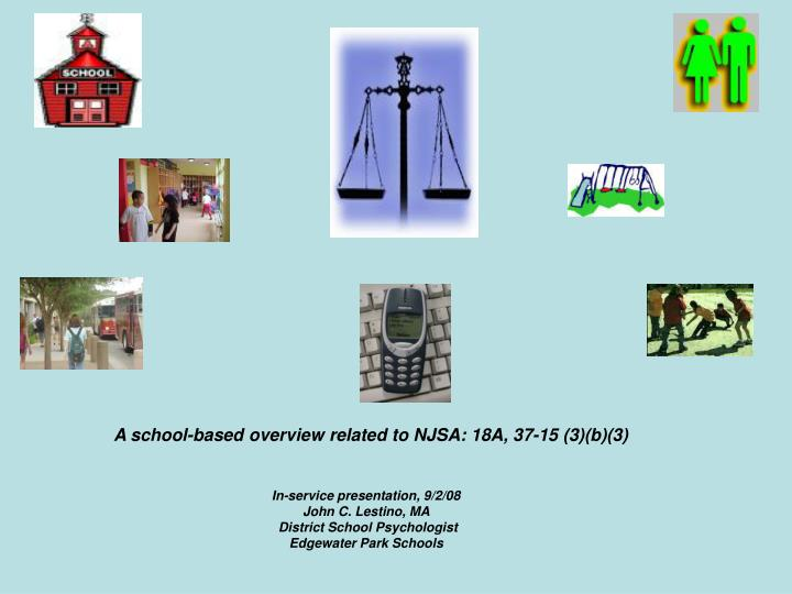 A school-based overview