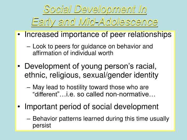 Social Development In