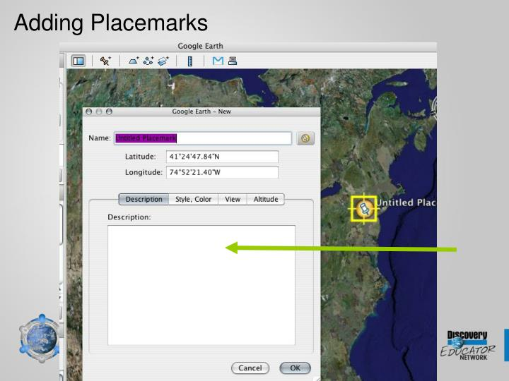 Adding Placemarks