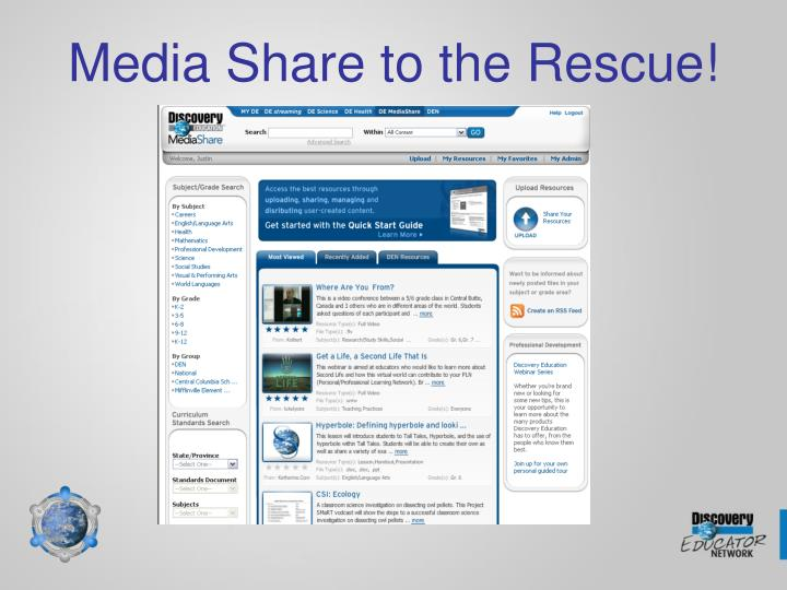Media Share to the Rescue!