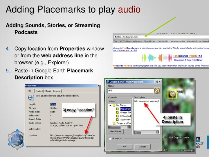 Adding Placemarks to play