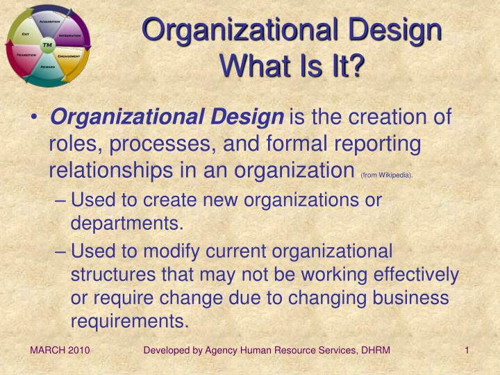 Organizational design what is it