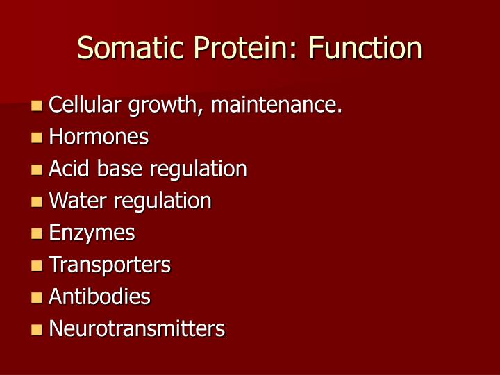 Somatic protein function
