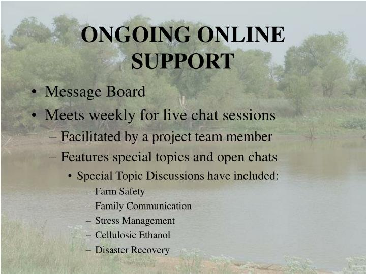 ONGOING ONLINE SUPPORT