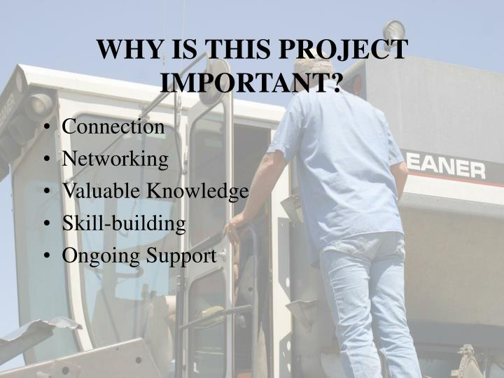 WHY IS THIS PROJECT IMPORTANT?