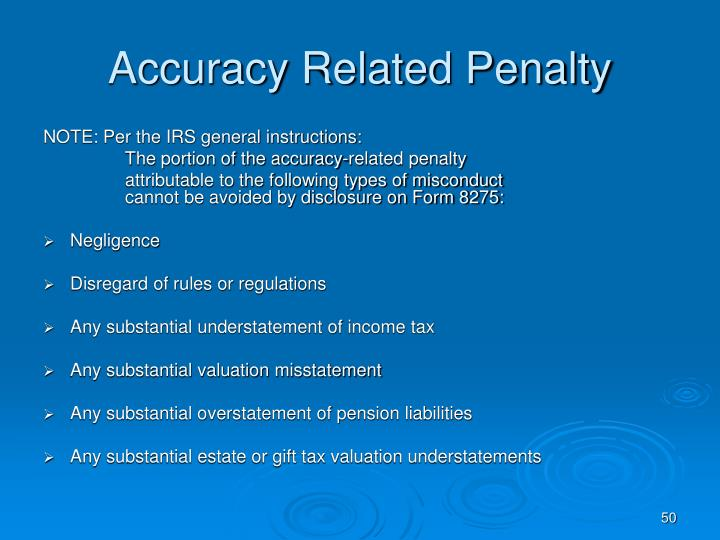 Accuracy Related Penalty