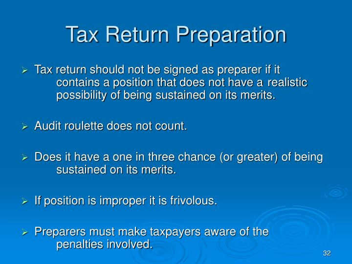 Tax Return Preparation