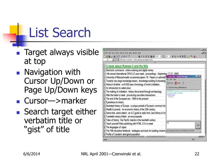 List Search