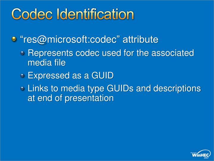 Codec Identification