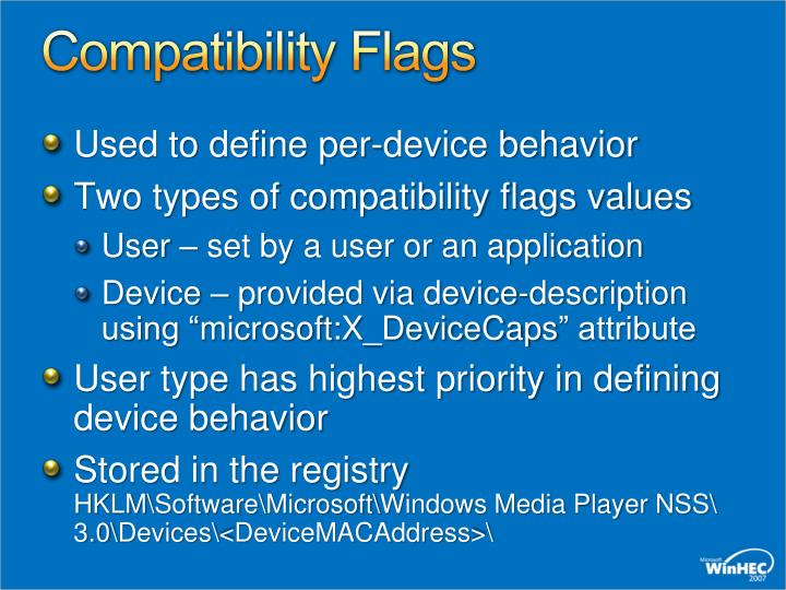 Compatibility Flags
