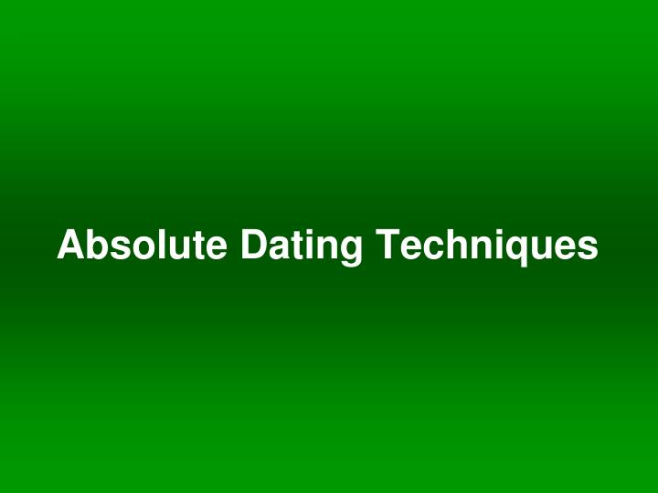 give an example of absolute dating Everything worth knowing about scientific dating methods before more precise absolute dating tools were possible for example, created a relative.