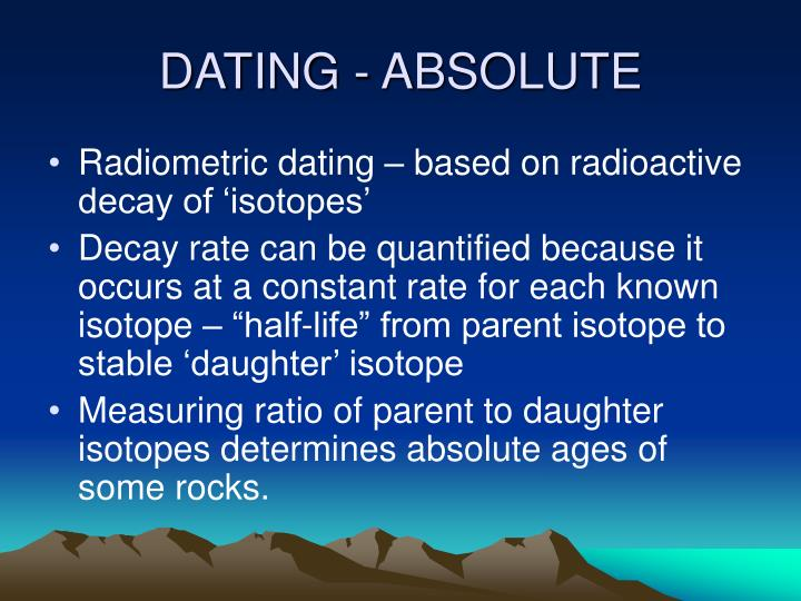 DATING - ABSOLUTE