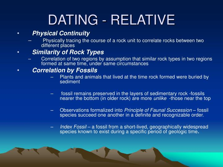 DATING - RELATIVE