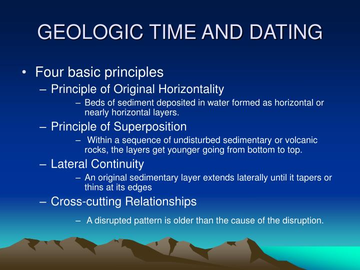 GEOLOGIC TIME AND DATING