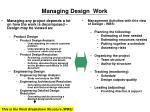 managing design work