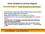 some guideline to activity diagram