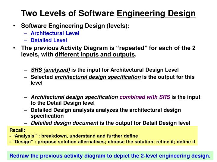 Two Levels of Software