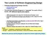 two levels of software engineering design