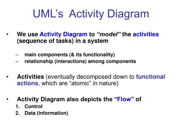 UML's  Activity Diagram