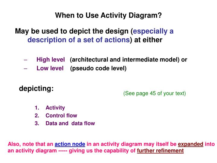 When to Use Activity Diagram?